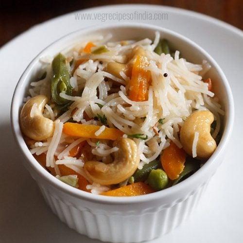 veg semiya upma recipe