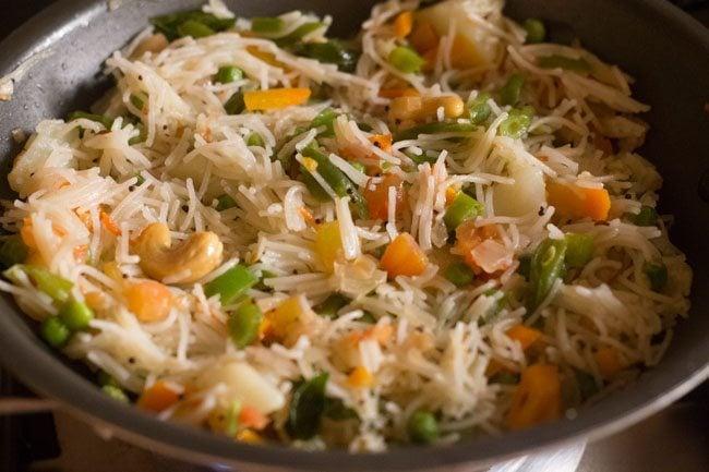 veg seviyan upma recipe