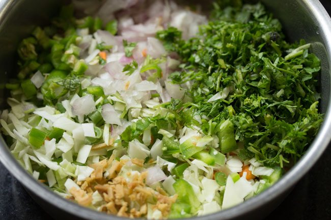 vegetables for veg vada recipe