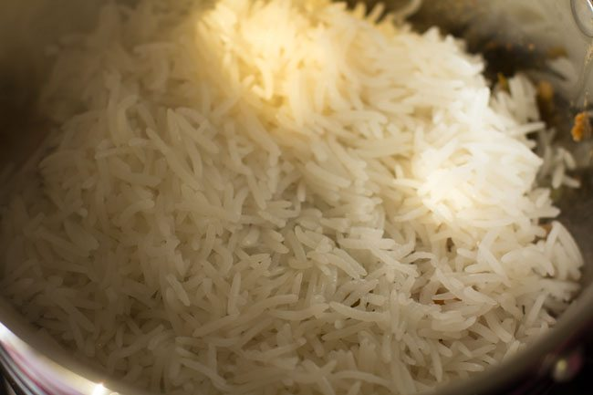 preparing awadhi biryani recipe