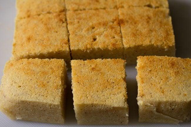 baked cake - eggless coconut rava cake recipe