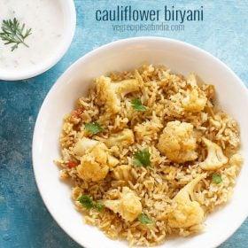 cauliflower biryani recipe