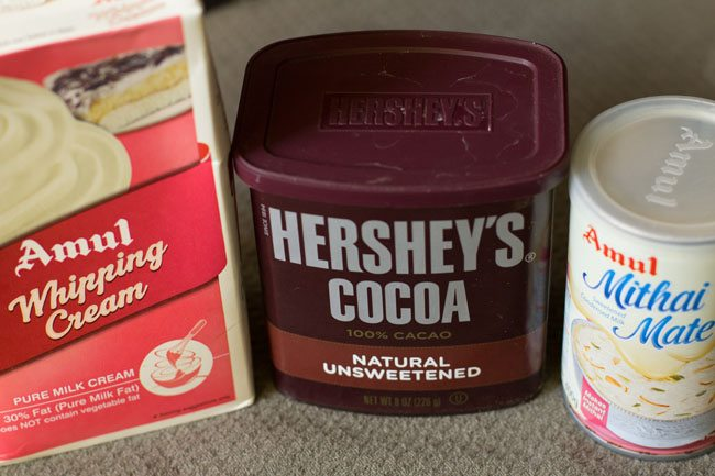 ingredients for choco chip ice cream recipe