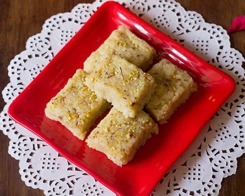 coconut barfi recipe with khoya