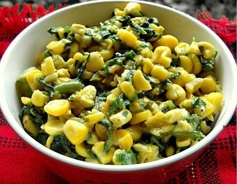 corn spinach recipe