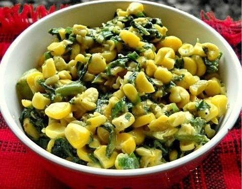 corn spinach recipe