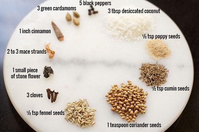 spices for gobi biryani