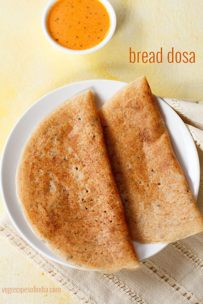 instant bread dosa recipe