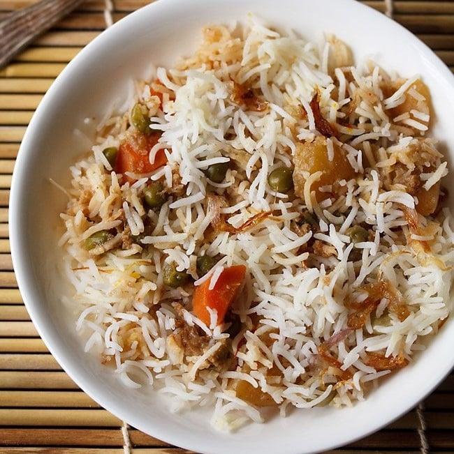 kolkata veg biryani recipe
