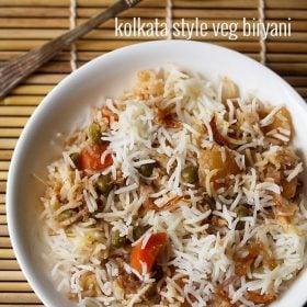 kolkata style veg biryani recipe