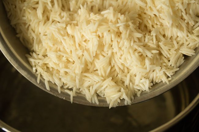 rice for kolkata style veg biryani recipe