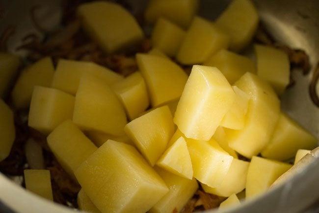 potatoes for kolkata veg biryani recipe