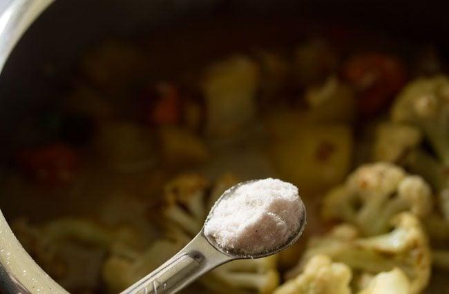 salt for kolkata veg biryani recipe