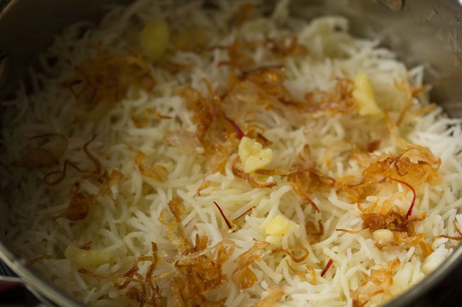 making kolkata style veg biryani recipe