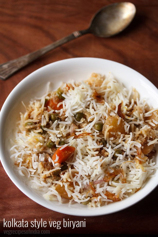 Kolkata style veg biryani recipe how to make kolkata veg for Awadhi cuisine kolkata
