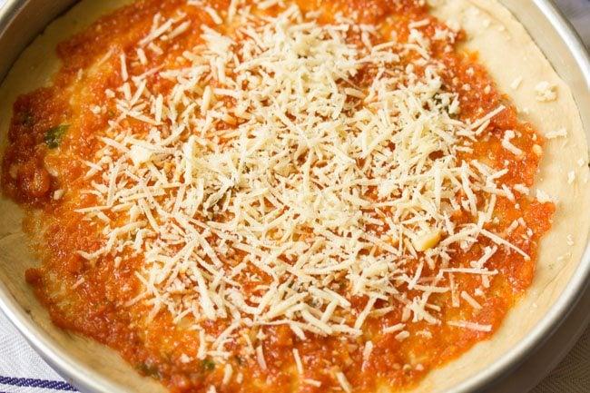 making margherita pizza recipe