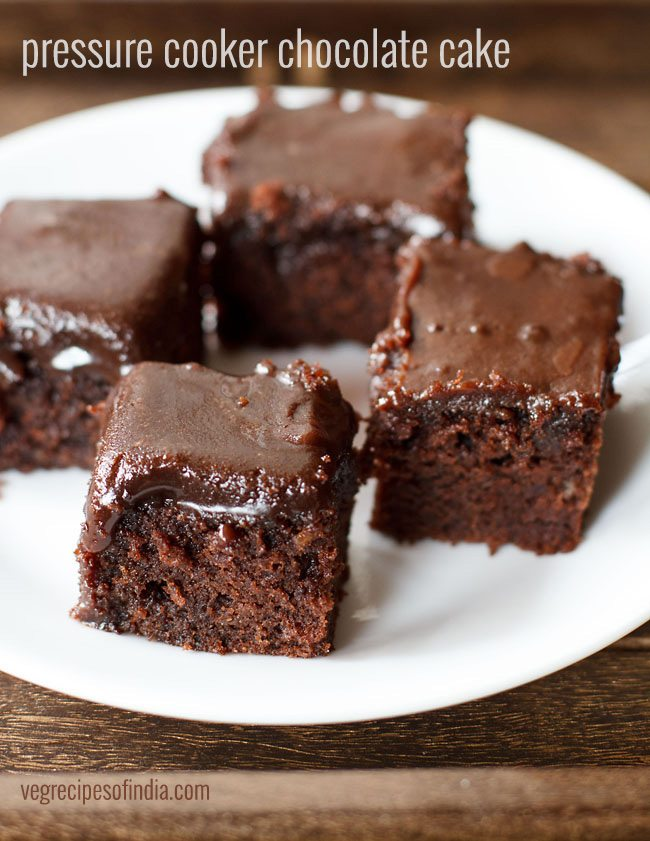 Chocolate cake recipe without egg in pressure cooker
