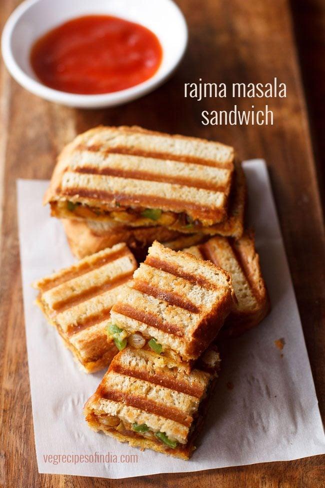 rajma masala sandwich recipe