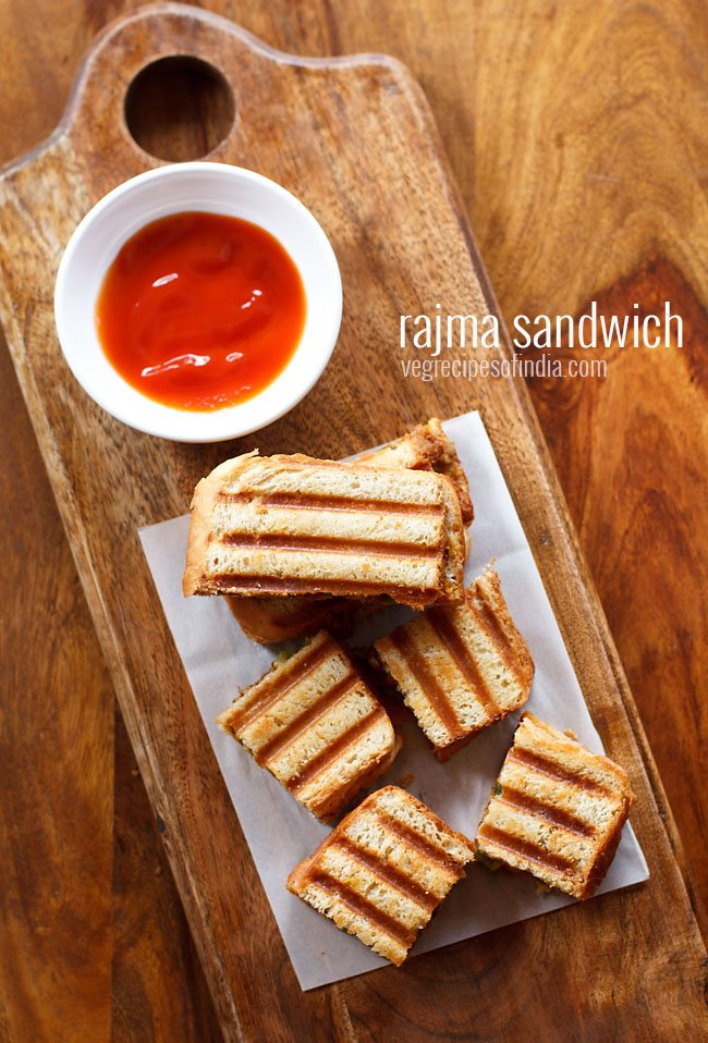 rajma sandwich recipe