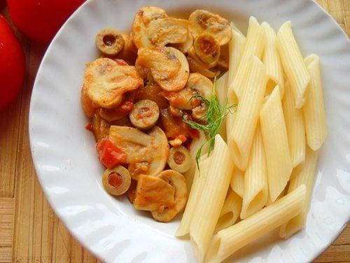 tomato mushroom penne pasta recipe