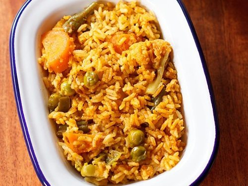 south indian veg biryani recipe