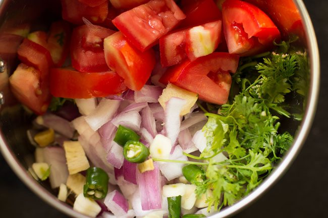 cooking vegetable biryani recipe