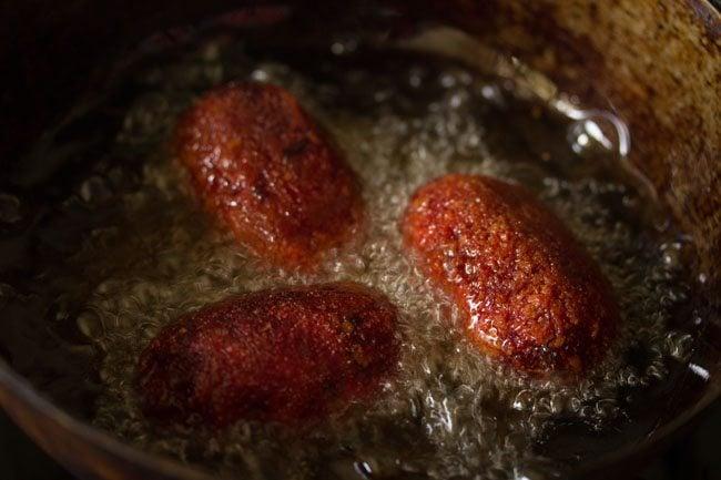 frying veg chops - kolkata style veg chops recipe