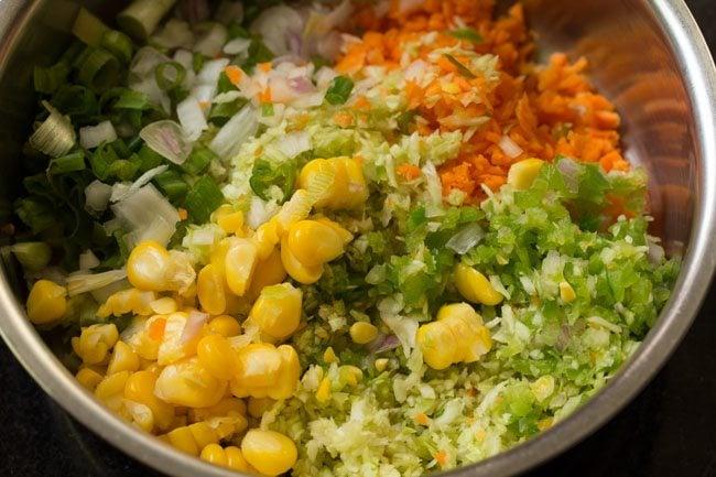 veggies to make veg coleslaw sandwich recipe