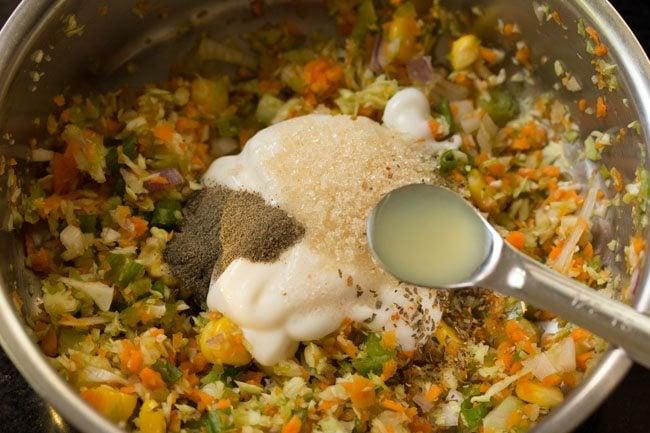preparing coleslaw sandwich recipe