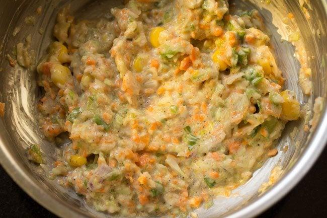 preparing veg coleslaw sandwich recipe
