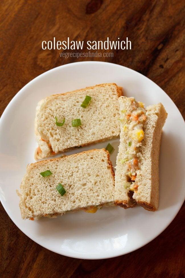veg coleslaw sandwich