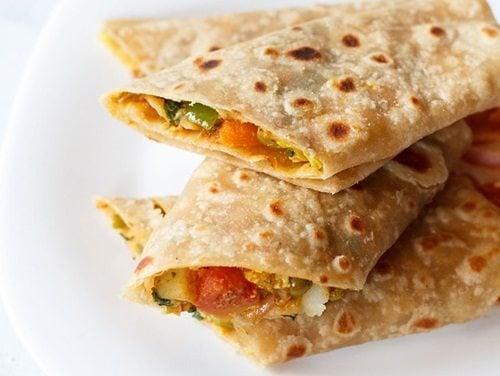 veg kathi rolls recipe