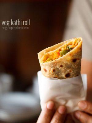 kathi roll recipe, how to make kathi rolls | veg kathi roll