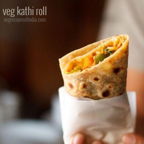 Kathi Roll Recipe How To Make Kathi Rolls Veg Kathi