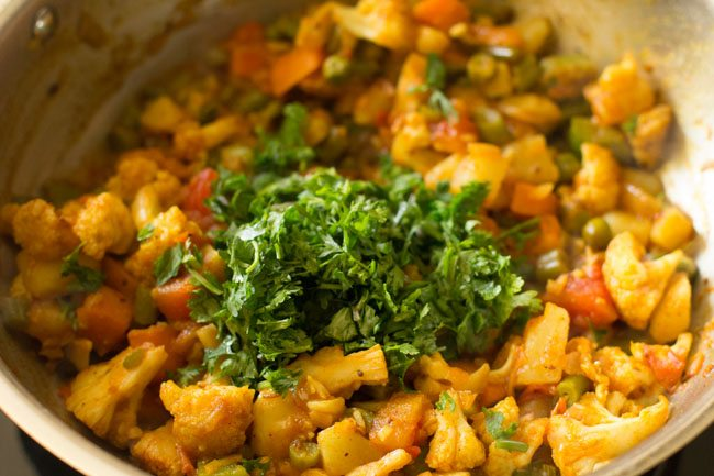 veggie stuffing for making veg kathi rolls recipe