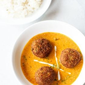veg kofta curry recipe, kofta recipe, kofta curry recipe