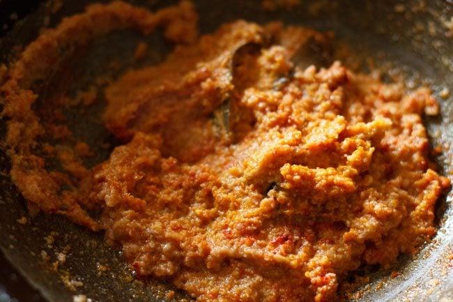 preparing veg kofta gravy recipe