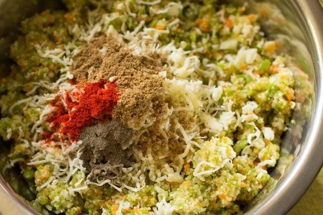 veggies mixture to prepare veg kofta recipe