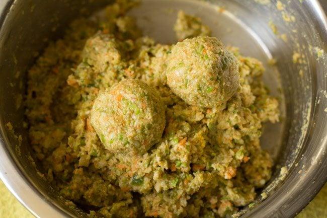 veggie mixture to make veg kofta curry recipe