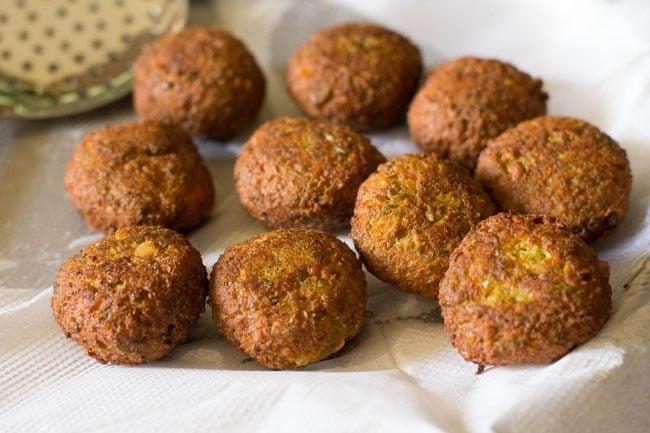 frying kofta - veg kofta curry recipe