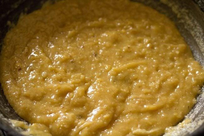 preparing 7 cup barfi recipe