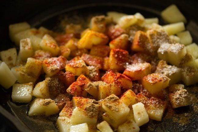 making potato fry recipe