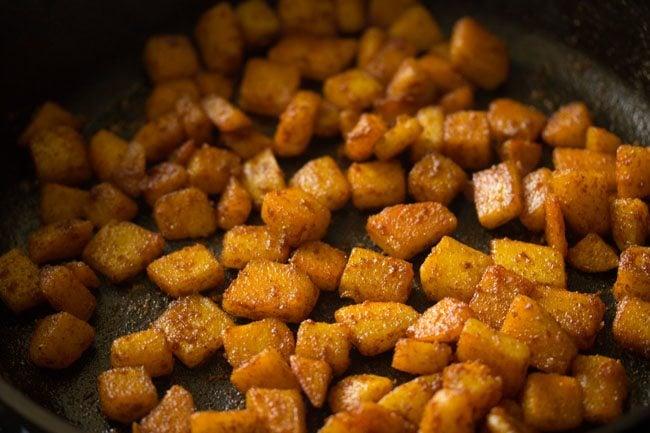 preparing potato fry recipe