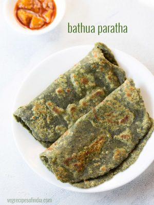 bathua paratha recipe