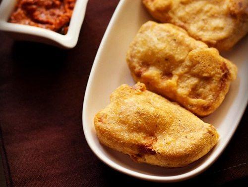 plain bread pakora recipe