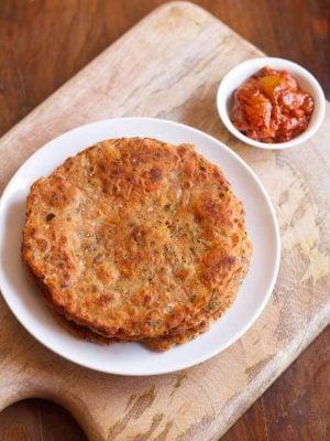 carrot paratha recipe, gajar paratha
