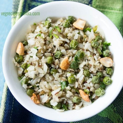 chura matar recipe, chooda matar recipe, matar poha recipe