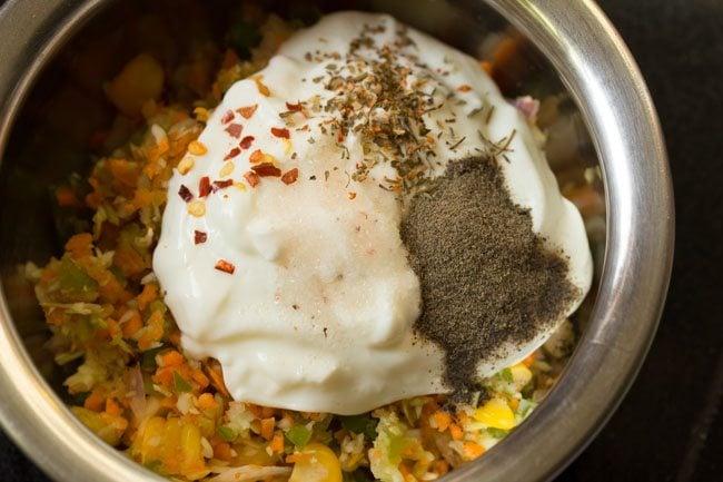 herbs to make veg curd sandwich recipe