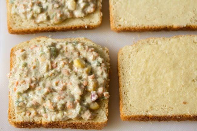 making veg curd sandwich recipe