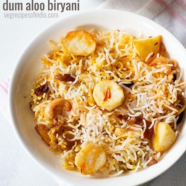 dum aloo biryani recipe